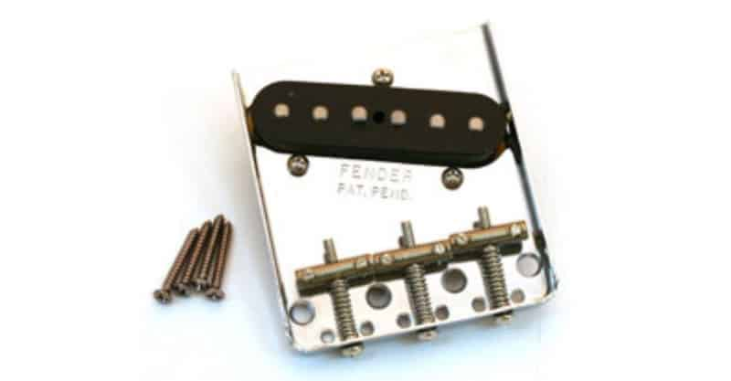 Fender American Vintage '62 Tele Custom Bridge Assembly With Pickup – Nickel