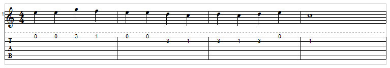 Example 4: Single note melody