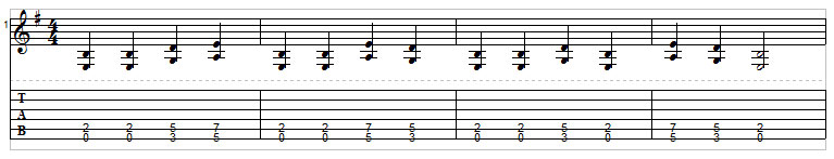 Example 9: Power chord exercise
