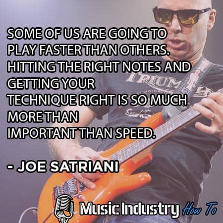 Famous Guitar Quote 5 - Joe Satriani