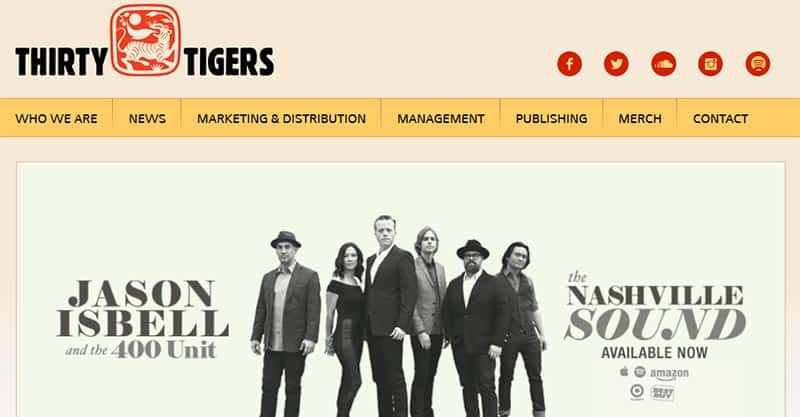 List of Nashville record labels, Thirty Tigers