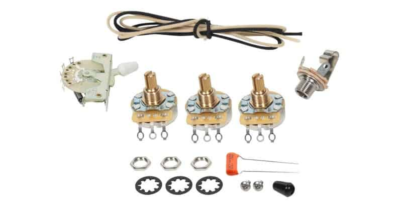 Fender Stratocaster Start 5-Way Wiring Kit – CRL Switch – CTS Pots