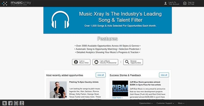 Music Xray is a old school licencing company which some have used