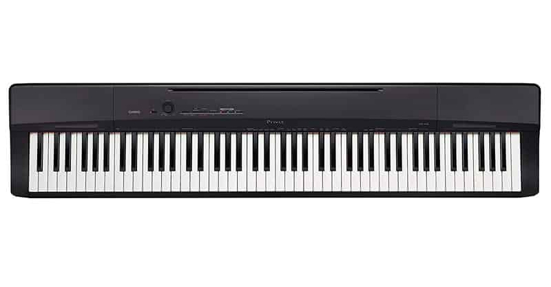 Casio Privia PX-160BK 88-Key Full Size Digital Piano With Power Supply