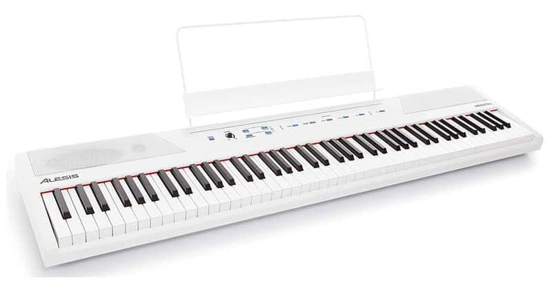 Alesis Recital White 88-Key Beginner Digital Piano With Full-Size Semi-Weighted Keys And Power Supply