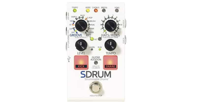 DigiTech SDRUM-U Automatic Drum Machine Pedal Multi Effects Processor