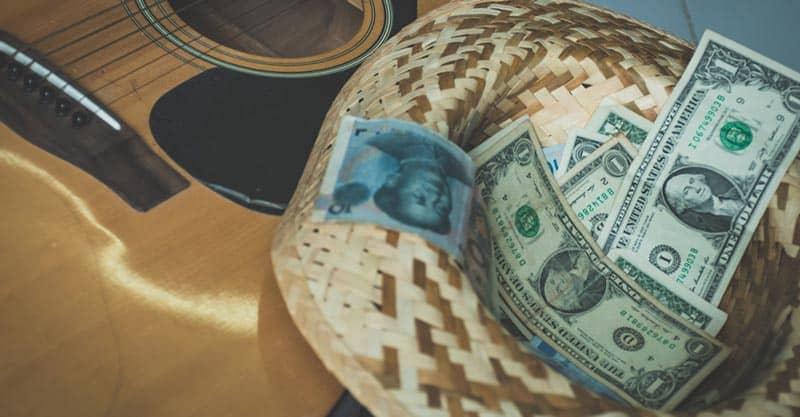 Guitarist income streams