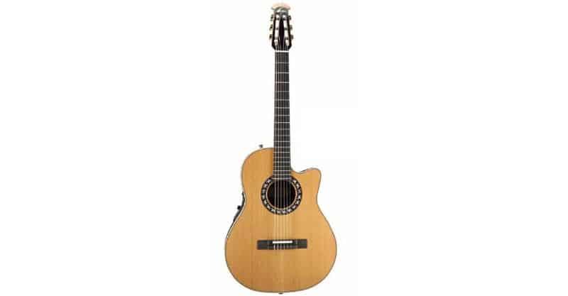 Ovation Classic Nylon Guitar Mid-Depth Cutaway AA Solid Cedar Natural 1773AX-4