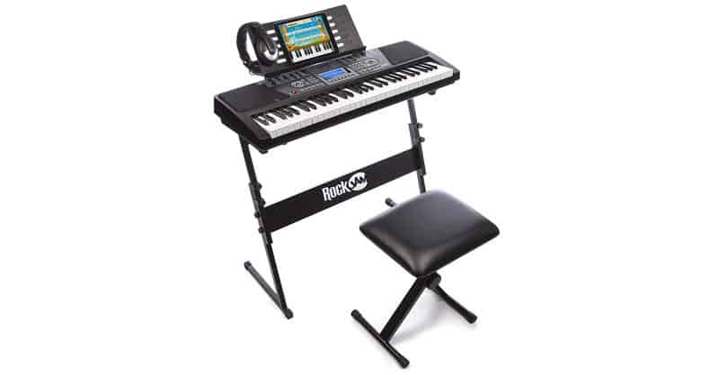 5a0812f361c RockJam 561 61-Key Electronic Keyboard Piano SuperKit With Stand, Stool,  Headphones & Power Supply