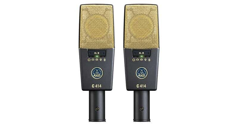 AKG Pro Audio C414 XLII Stereoset Vocal Condenser Microphone, Multipattern