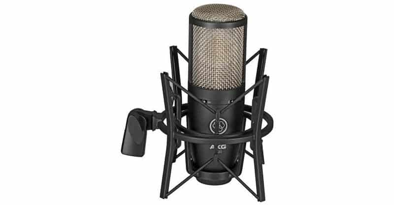 AKG Project Studio P220 Large Diaphragm Condenser Microphone With Pop Filter And XLR Cable