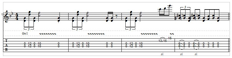 Slide guitar example 9