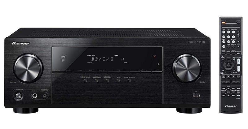 Pioneer VSX-532 Surround Sound A/V Receiver – Black