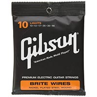 Gibson Brite Wires Electric Guitar Strings, Light 10 – 46
