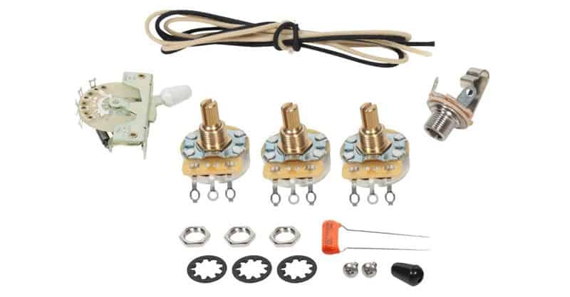 Fender Stratocaster Strat 5-Way Wiring Kit – CRL Switch – CTS Pots