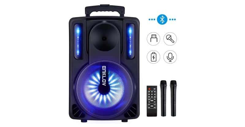 ENKLOV Portable Wireless Karaoke Bluetooth Speaker System
