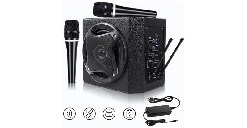 TONOR PA System Karaoke Machine With 50W Bluetooth Powered Speaker