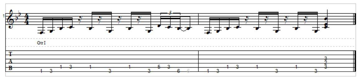 G minor pentatonic riff