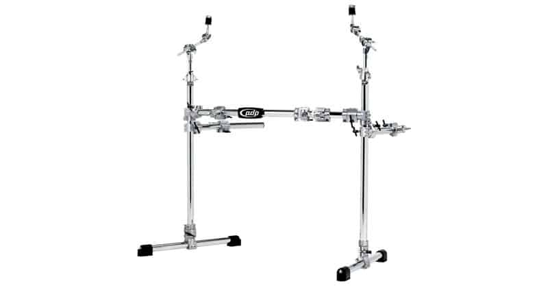 Pacific Drums By DW Chrome Over Steel Main Rack With 2 Side Wings