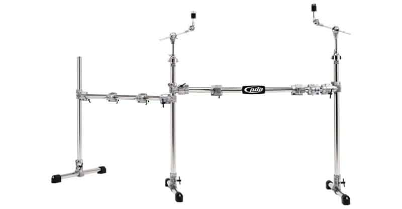 Pacific Drums By DW Chrome Over Steel Main And Side Combo Rack