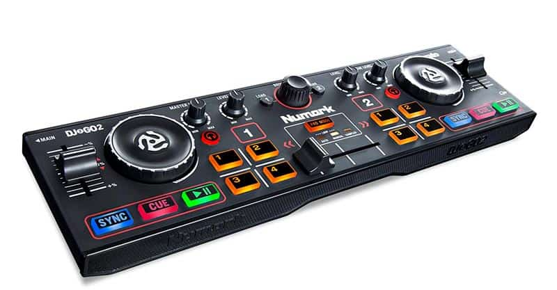 Numark DJ2GO2 | Ultra Portable Two Channel DJ Controller For Serato DJ