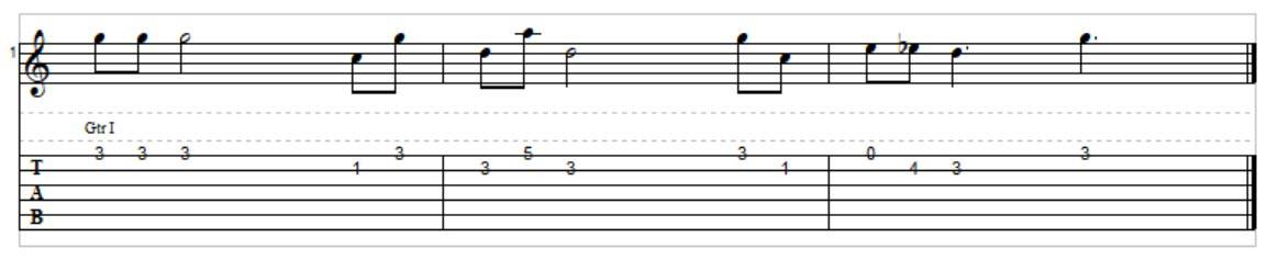 Melody – what key is this in?