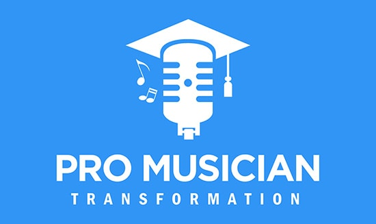 Pro Musician Transformation Logo Blue