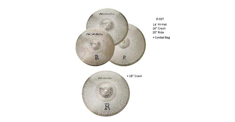 Agean Cymbals Silent R-Series Low Volume Cymbal Pack Box Set