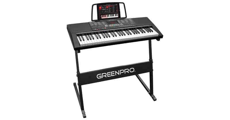 GreenPro 61 Key Portable Electronic Piano Keyboard