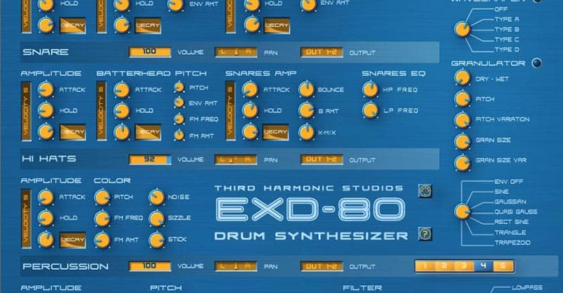 EXD-80 Drum Synthesizer – Free VST Instrument