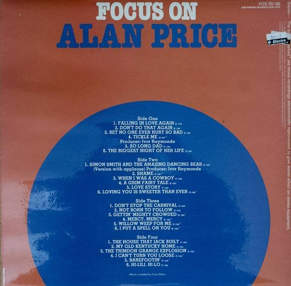 Alan Price - Focus On Alan Price (2LP)
