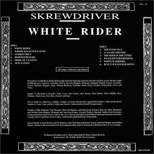 Skrewdriver  - White Rider (LP Colored Vinyl) For Sale