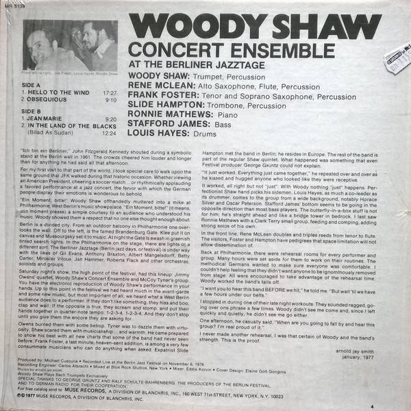 Image result for woody shaw berliner