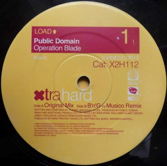 Public Domain - Operation Blade (bass In The Place) - 12""