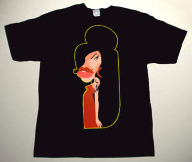 Amy Winehouse - Amy Winehouse Cartoon 4 - T-Shirt