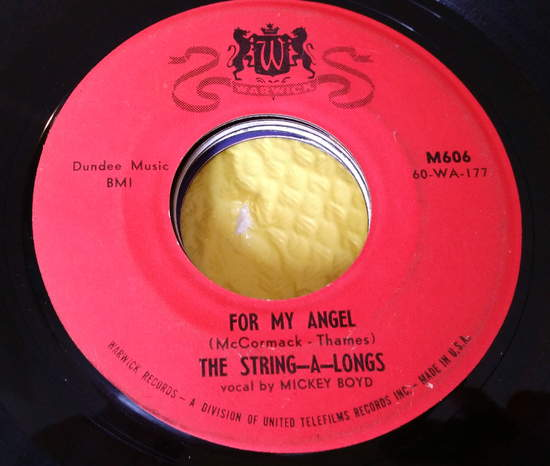 String-a-longs - I'm No Angel/tell The World - 7""