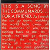 Communards - For A Friend Record