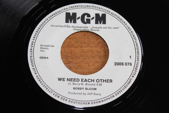 """Bobby Bloom - We Need Each Other - 7"""""""