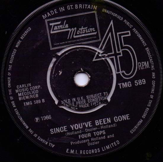 Four Tops - Since You've Been Gone - 7""