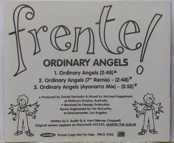 Frente Ordinary Angels Records Lps Vinyl And Cds Musicstack