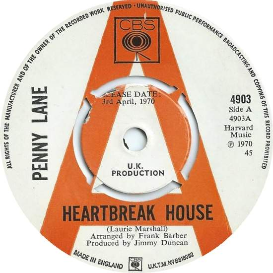 Penny Lane - Heartbreak House - 45