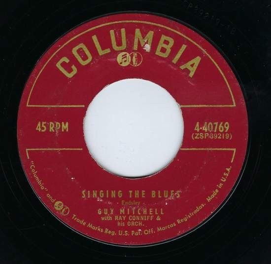 Guy Mitchell - Singing The Blues / Crazy With Love - 7""