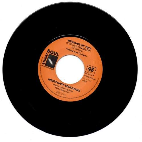 Westcoast Soulstars - Because Of You / Soul Redemption - 7""