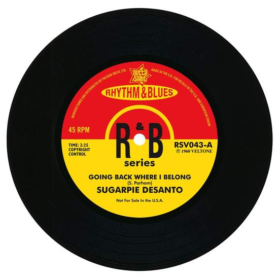 Sugar Pie Desanto - Going Back Where I Belong / A Little Taste Of Soul - 7""