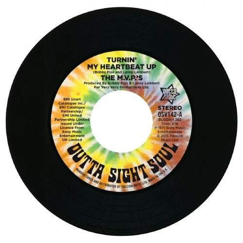 """M.v.p's - Turnin' My Heartbeat Up (stereo) / (mono) - 7"""""""