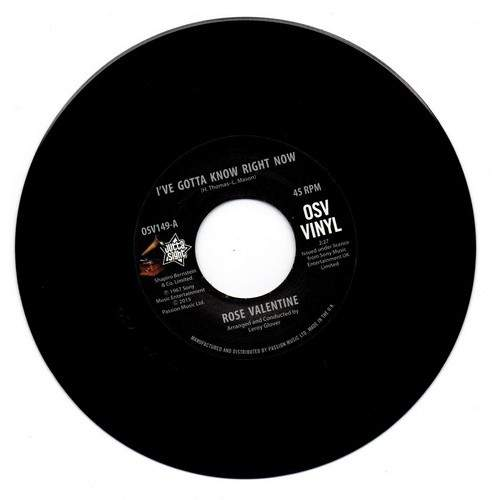 """Rose Valentine / Susan Barrett - I've Gotta Know Right Now / What's It Gonna Be - 7"""""""