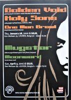 Golden Void / Mugstar - Flyer For Gigs In Leuven, Belgium - Postcard