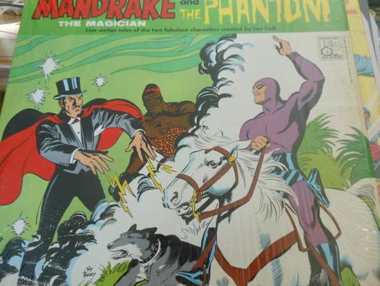 Jackson Beck - The Official Adventures Of The Phantom And Mandrake The Magician - LP
