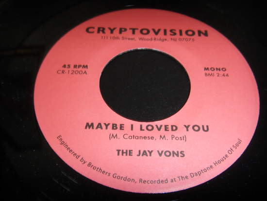 Jay Vons - Maybe I Loved You - 45