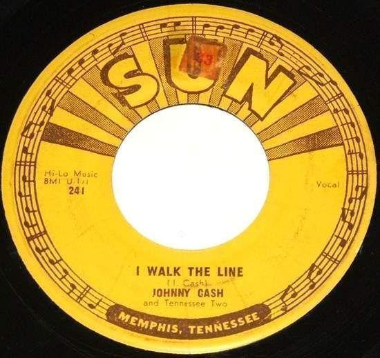 "Johnny Cash - I Walk The Line / Get Rhythm - Us 7"""